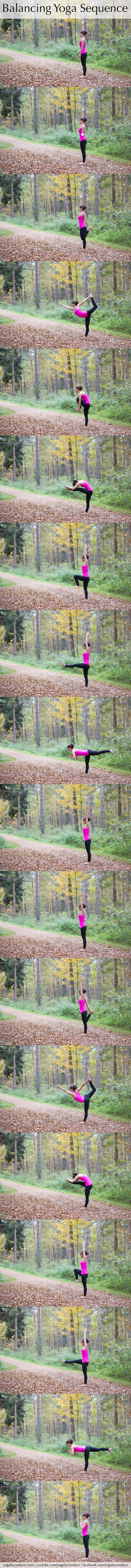 Pin it! A yoga sequence for balance - excellent for runners and athletes.