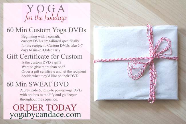 Pin it! Custom & pre-made yoga DVDs for the holidays