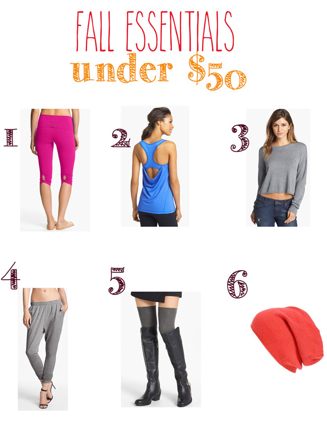 Fall essentials under $50
