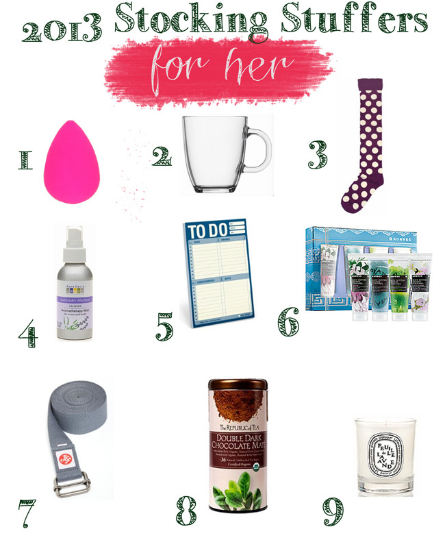 Stocking Stuffer Gift Guide 2013 Yogabycandace
