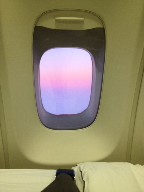 Sunset from 37,000 feet