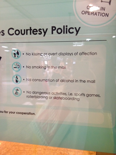 Rules of the mall