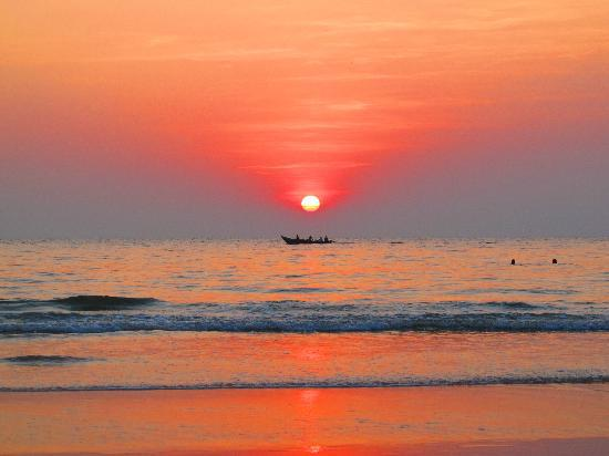 Pin it! Sunset in Goa, India.  Via .