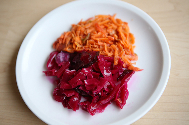 homemade fermented veggies