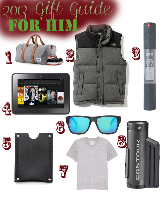 Pin it! 2013 Gift guide for him.