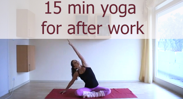 15 minute yoga video to unwind after a long day. Pin it!