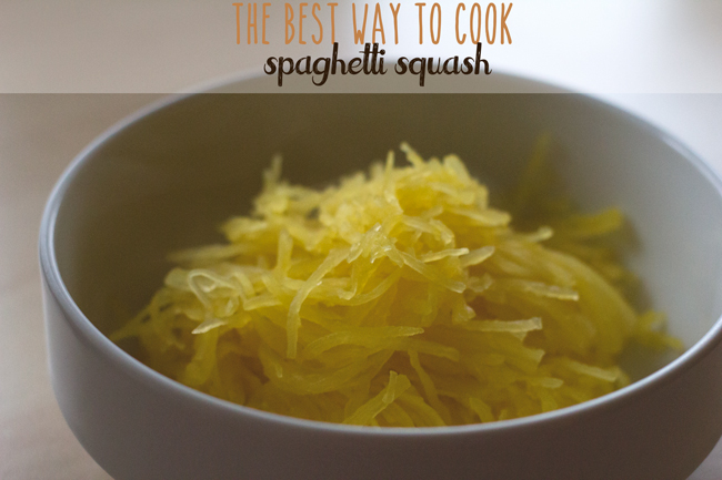 Pin it! The best way to cook spaghetti squash so it actually tastes like spaghetti.