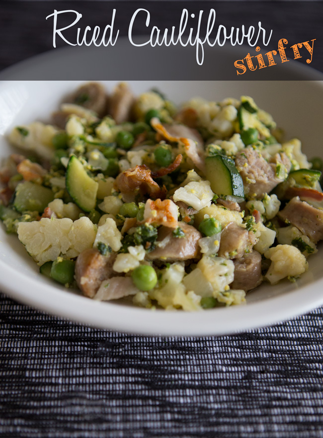 Pin it! GAPS friendly riced cauliflower stir fry.