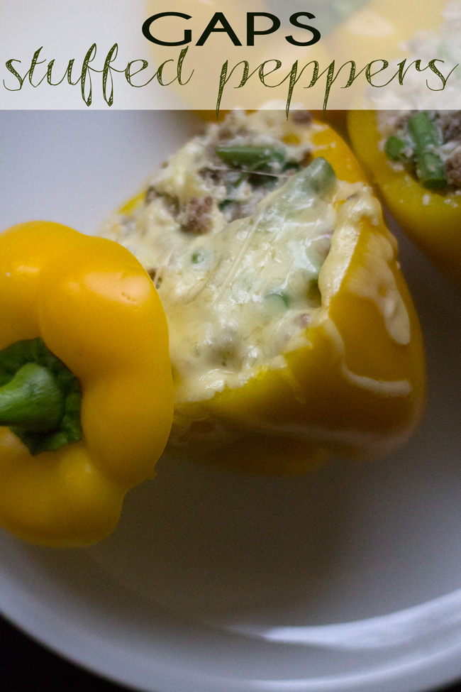 Pin it! A recipe for GAPS stuffed peppers.