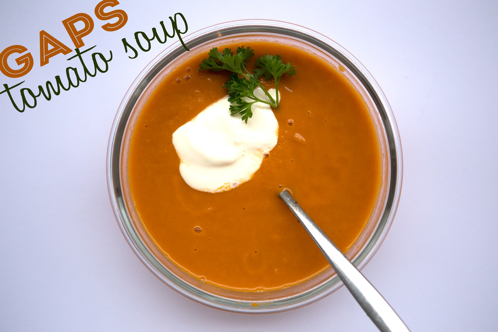 Pin it! GAPS friendly tomato soup.