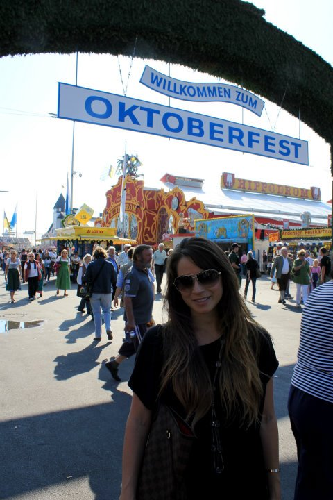 Oktoberfest Wearing: Ray-Ban aviators, Vince top (similar)