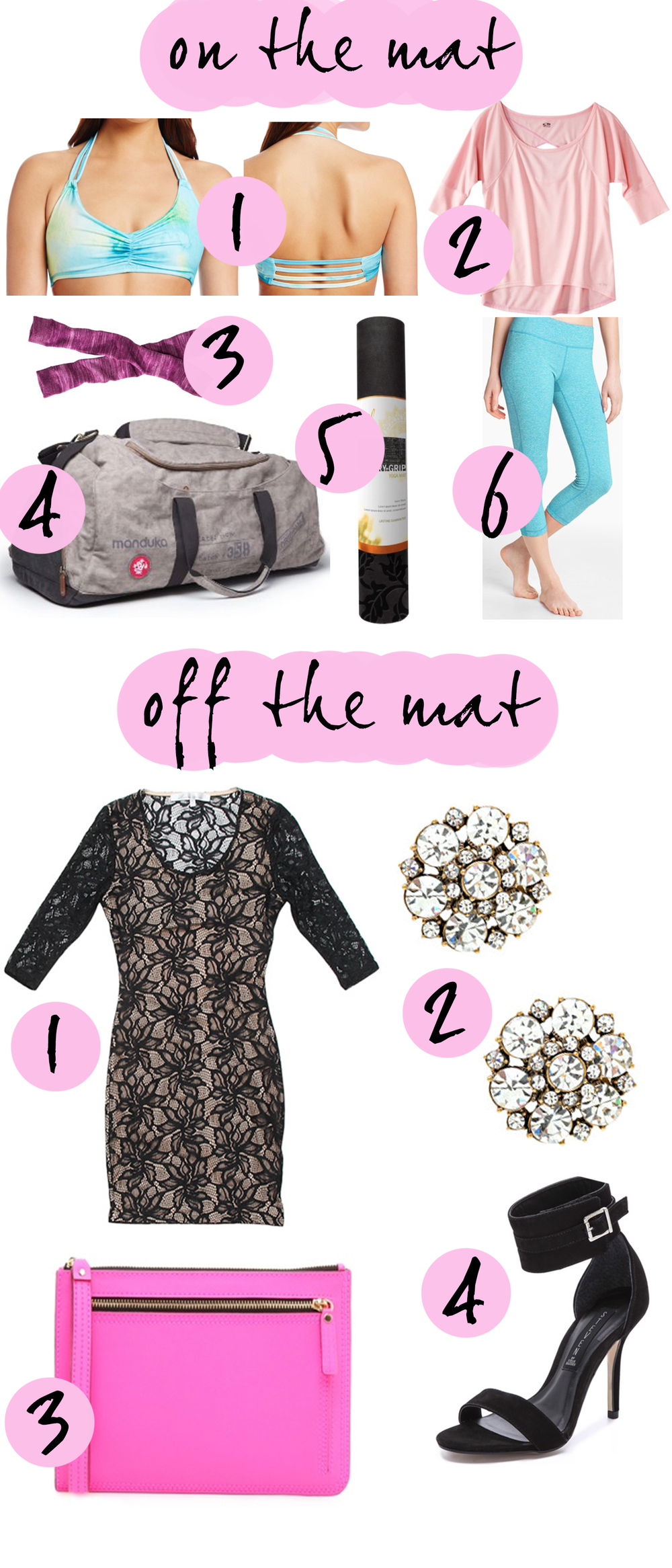 Pin it! Clothes for your workout or a date night.