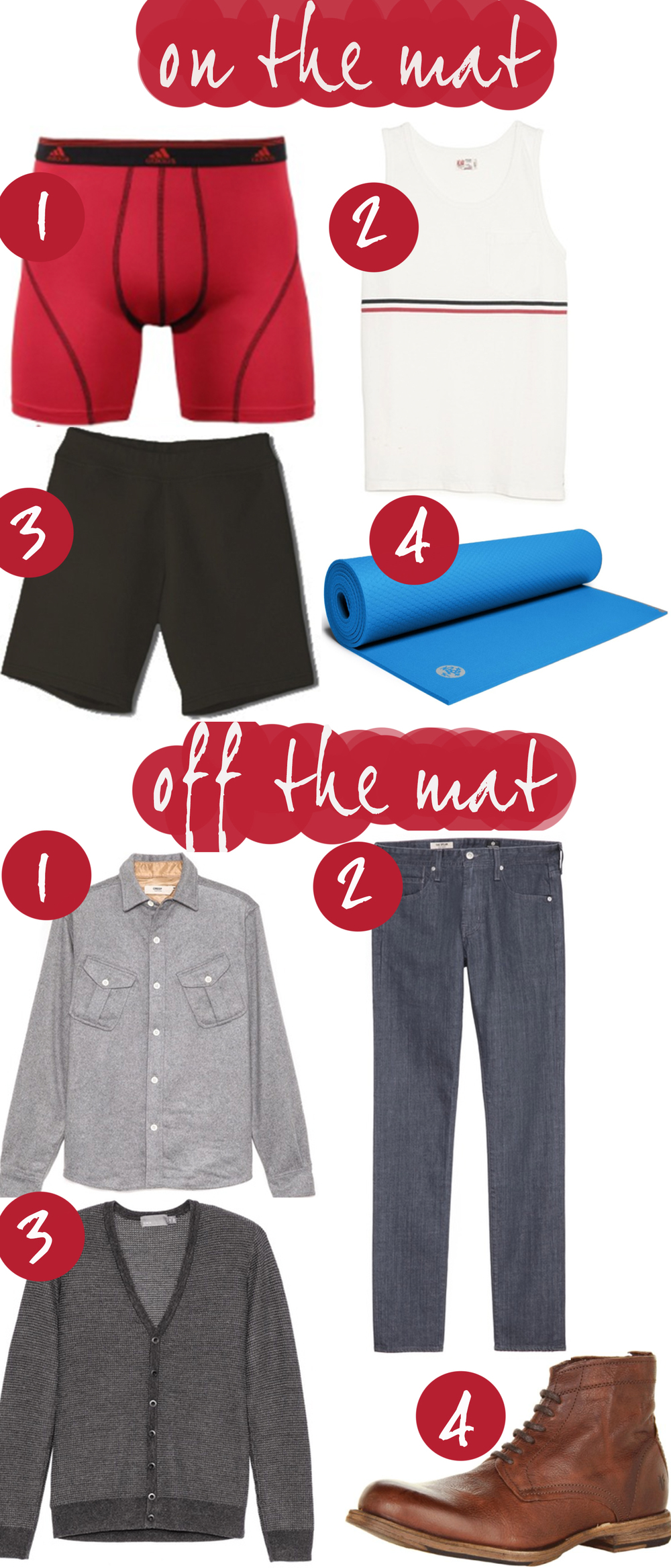 Pin it! Yoga clothes for men, date night clothes for men.