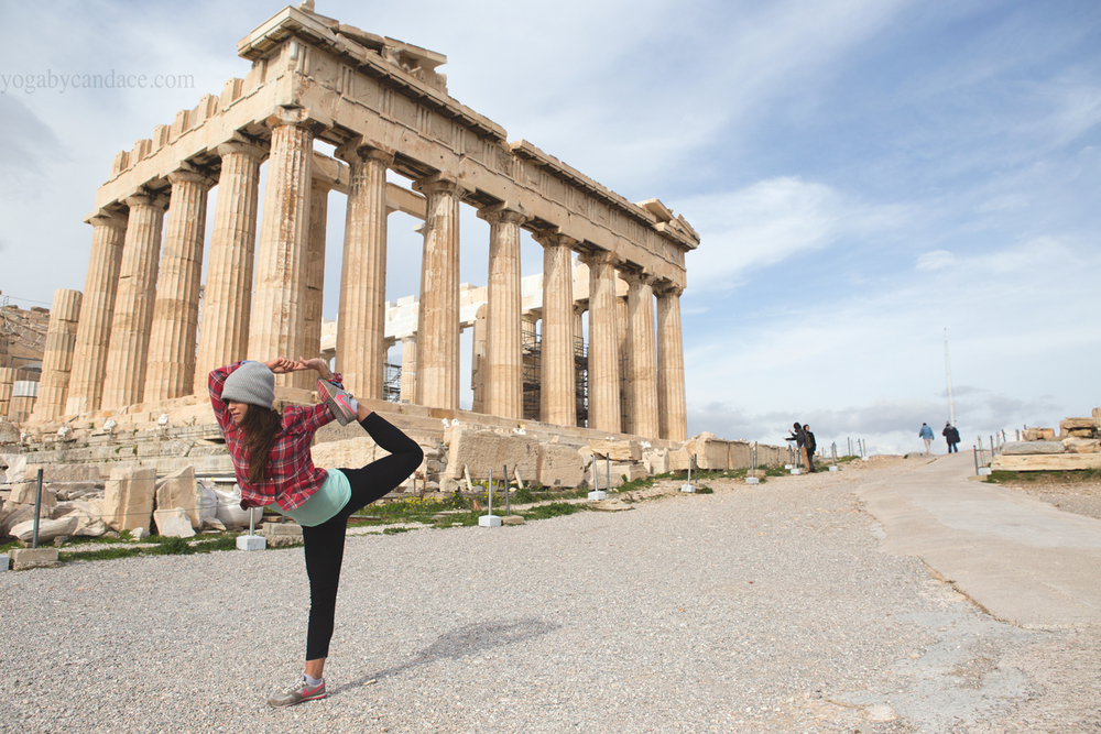 Yoga at the acropolis