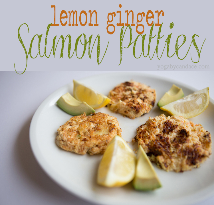 Pin it! Lemon ginger salmon patties