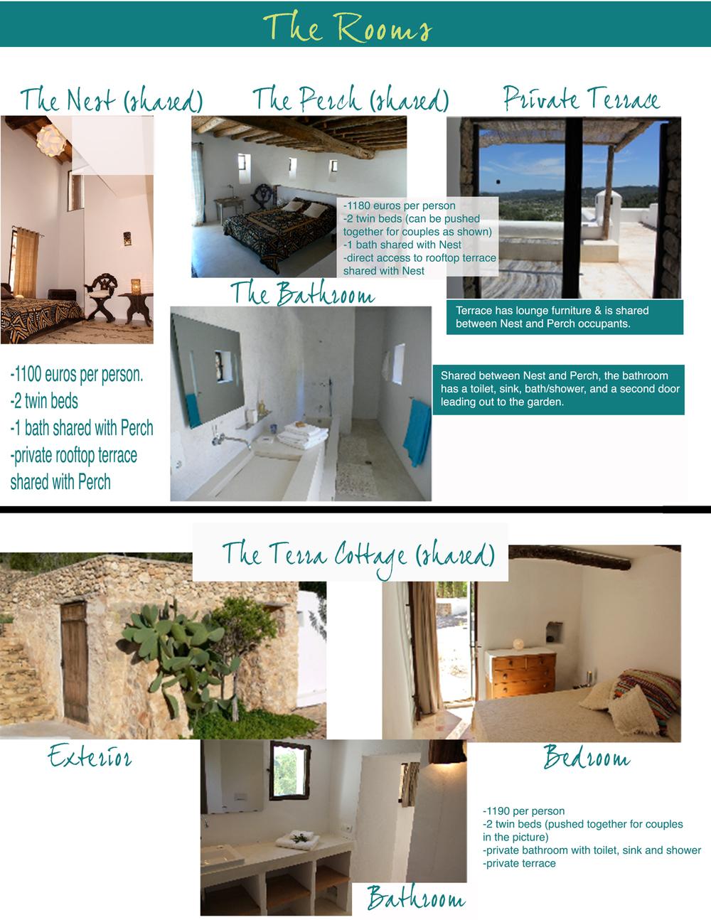 Ibiza yoga retreat accommodations