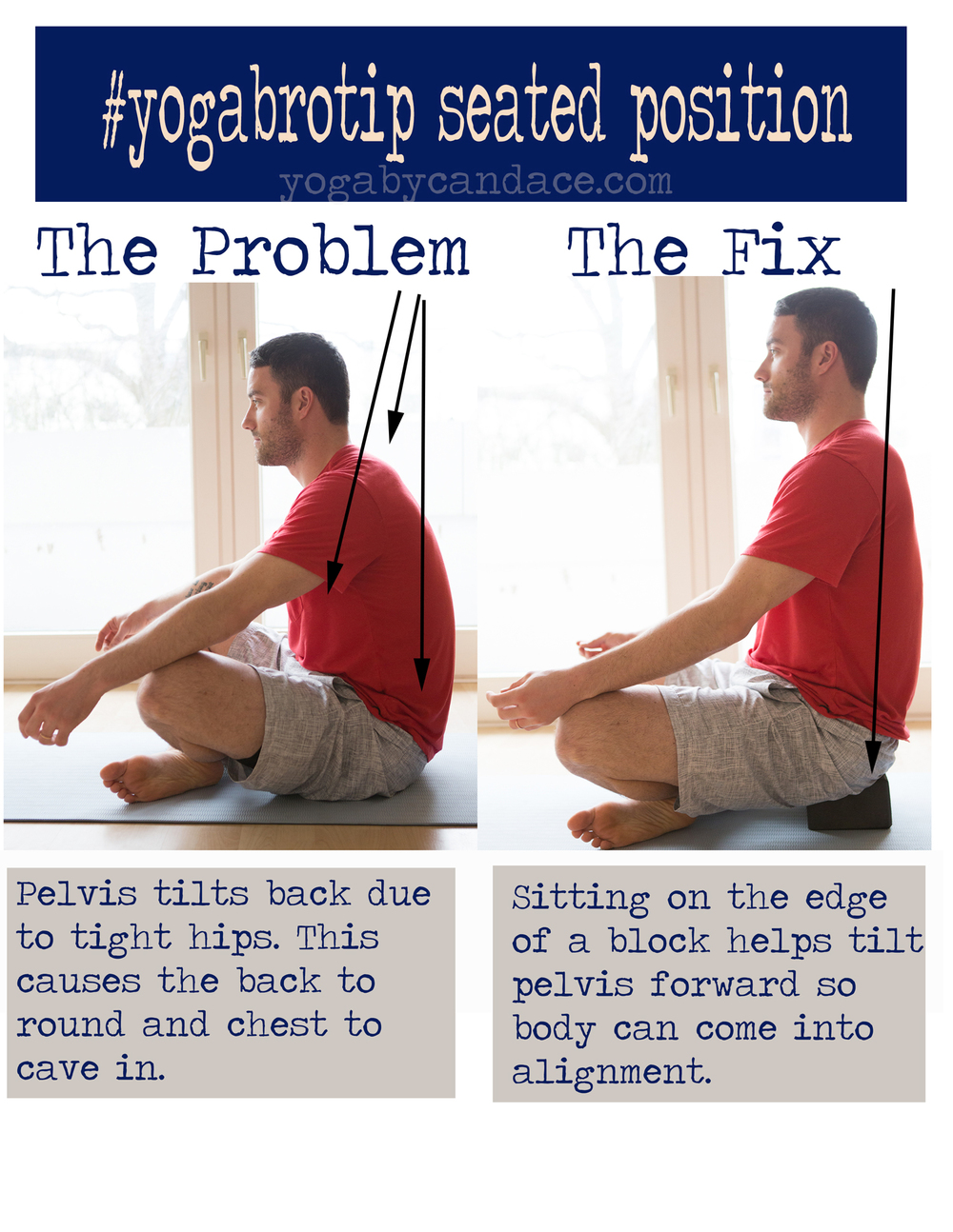 Pin it! Tips for yoga for men.