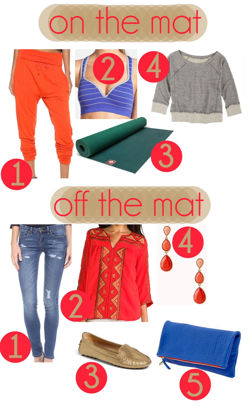 Pin it! Clothes for on the mat and off the mat