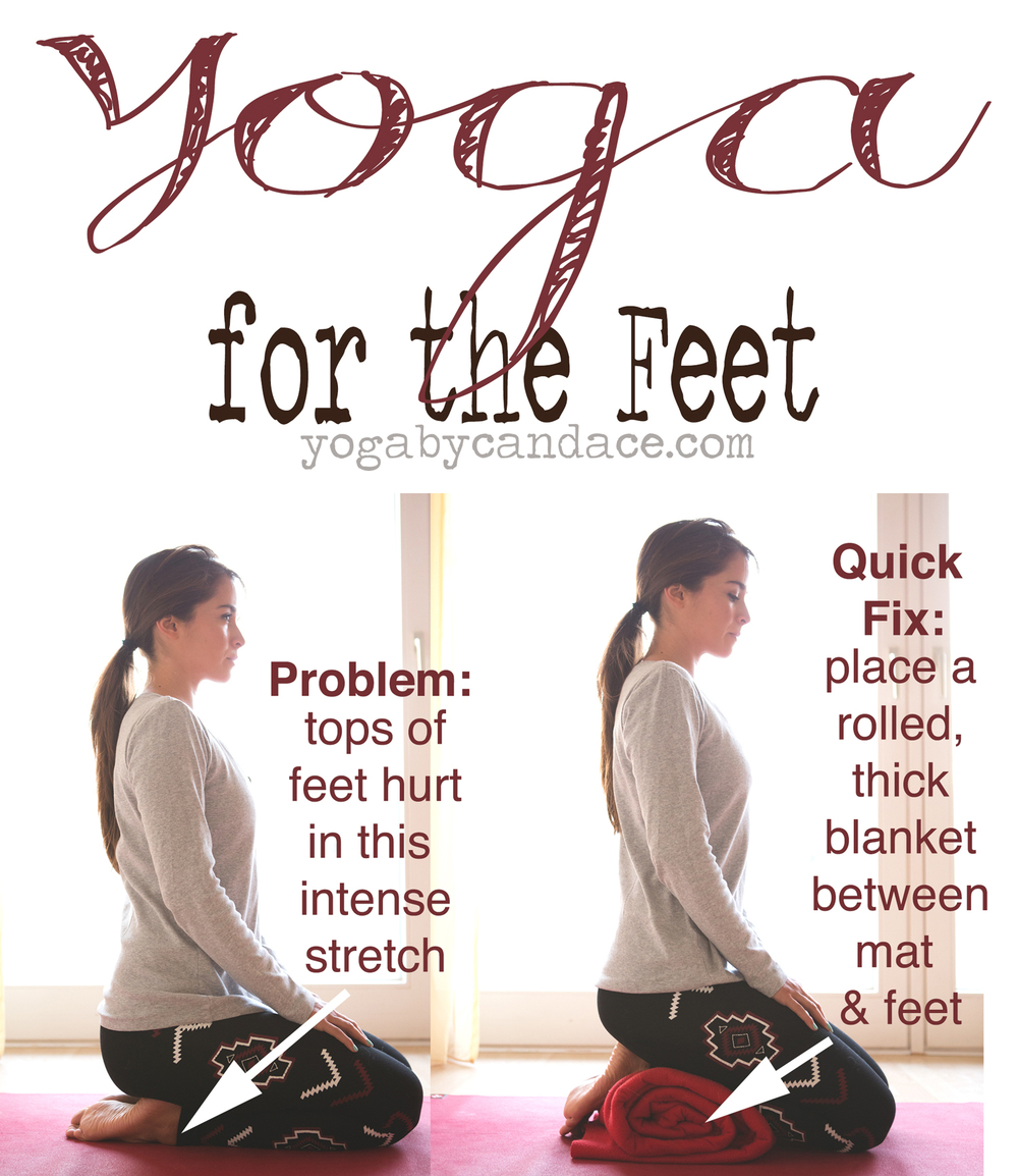Pin it! Modification  for yoga for the feet. Wearing: Gap favorite v neck, Forever 21 aztec leggings (similar). Using Manduka travel mat.