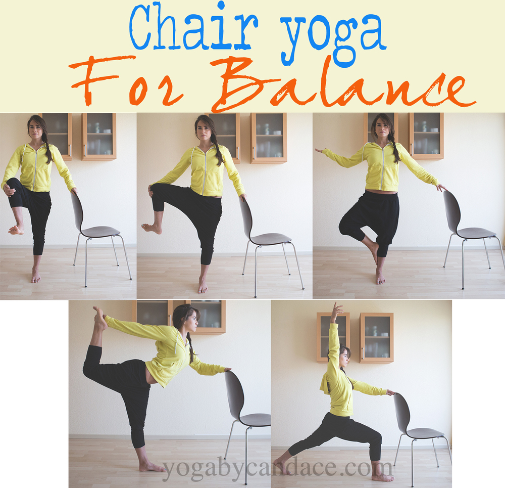 Pin it! Chair yoga for balance and strength. Wearing  F21 harem pants  05a6534c302b8