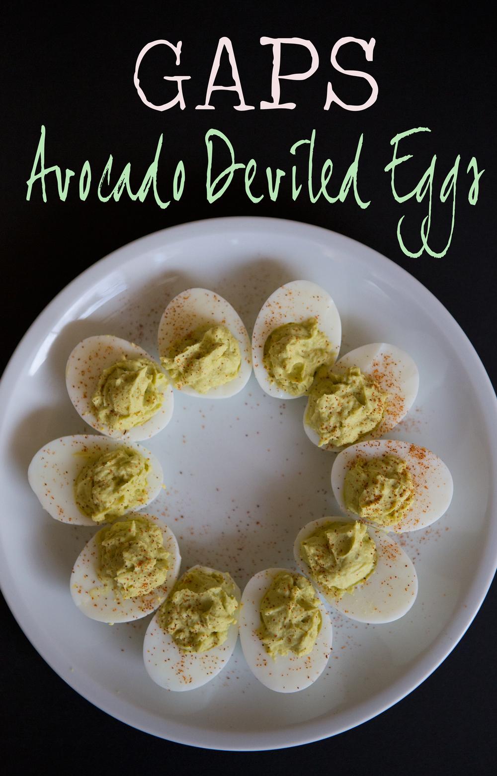 Pin it! GAPS avocado deviled eggs recipe
