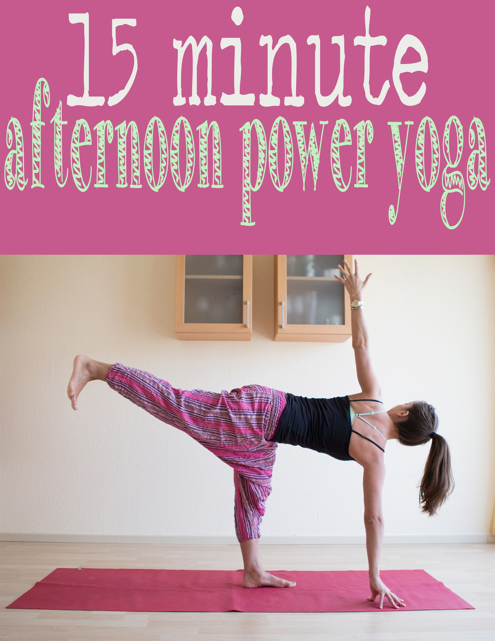 Pin it! An instructional power yoga video.