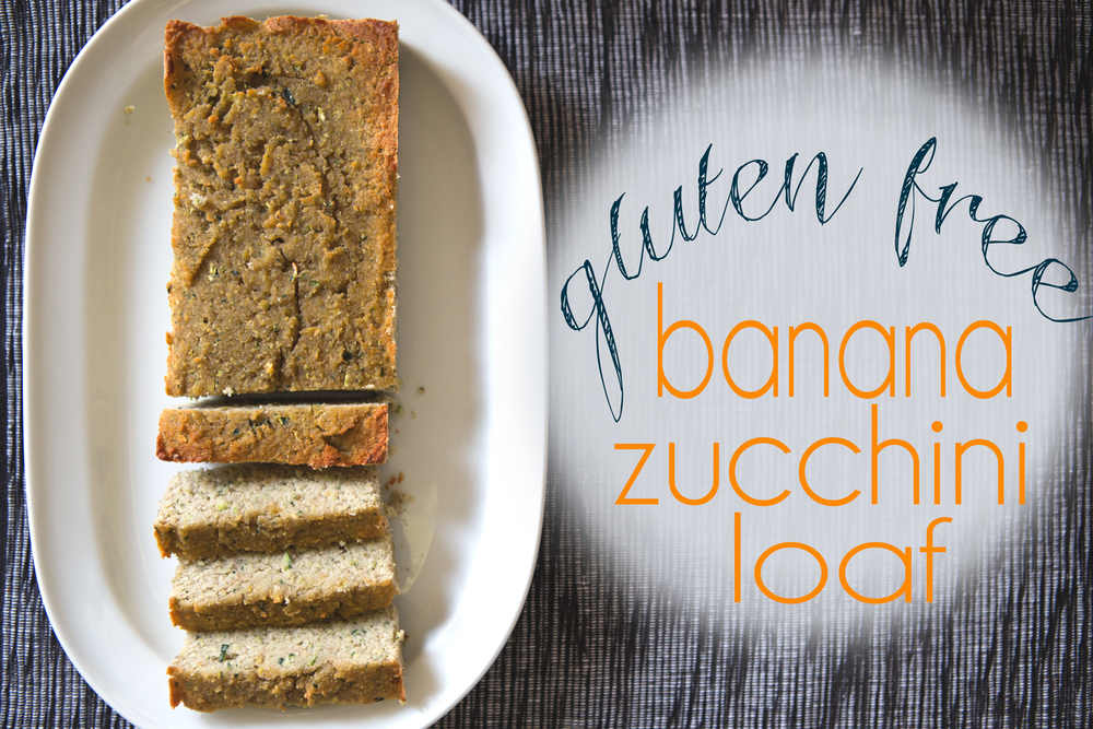 Pin it! Gluten-free recipe for banana zucchini loaf