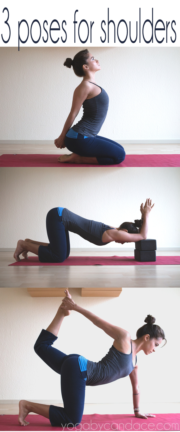 e9de05b2f8ce9 Pin it! 3 yoga poses for the shoulders and chest. Using  Manduka travel