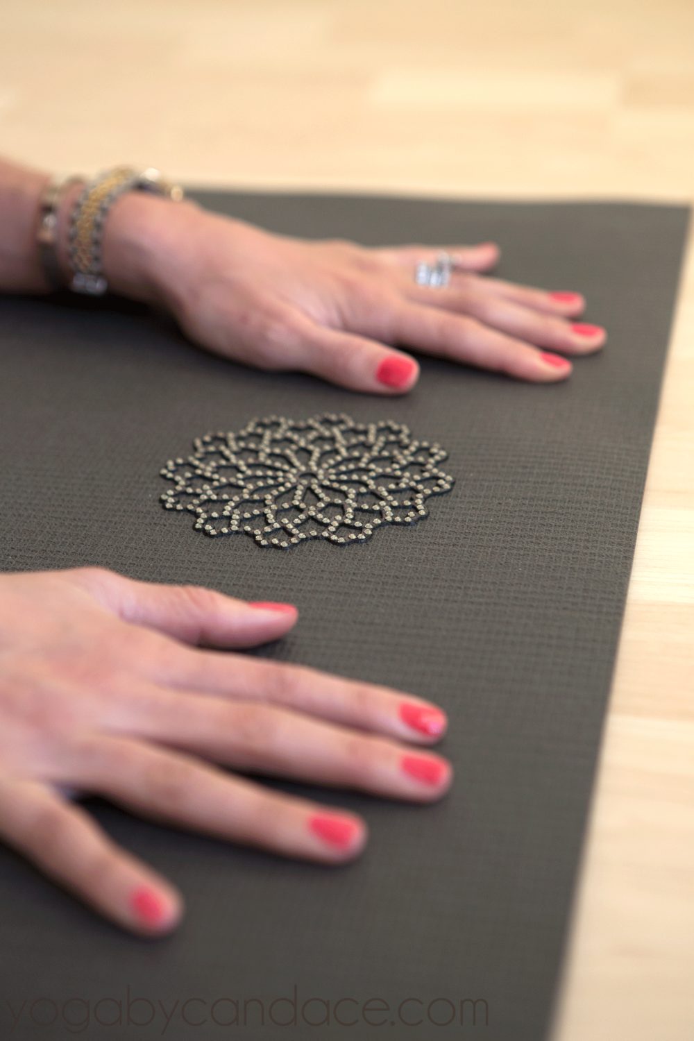 Pin it! Win this yoga mat! Wearing: Pink daiquiri nail polish (on super sale for less than $1!)