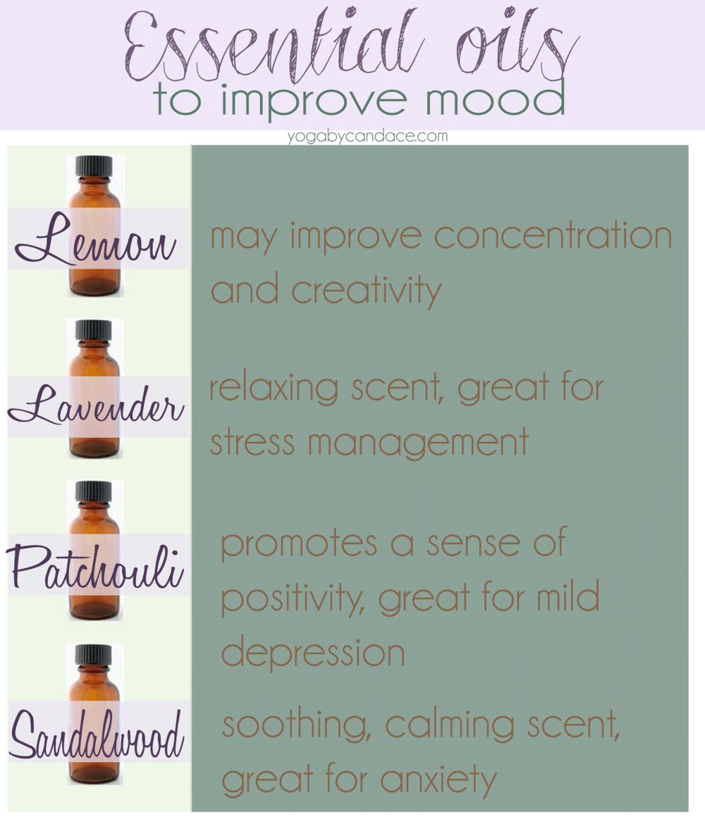 A few essential oils that may improve mood