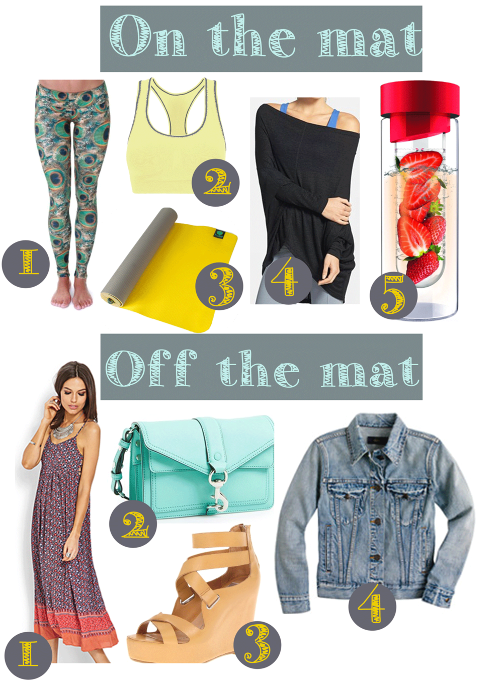 On the mat // Off the mat - clothing for women