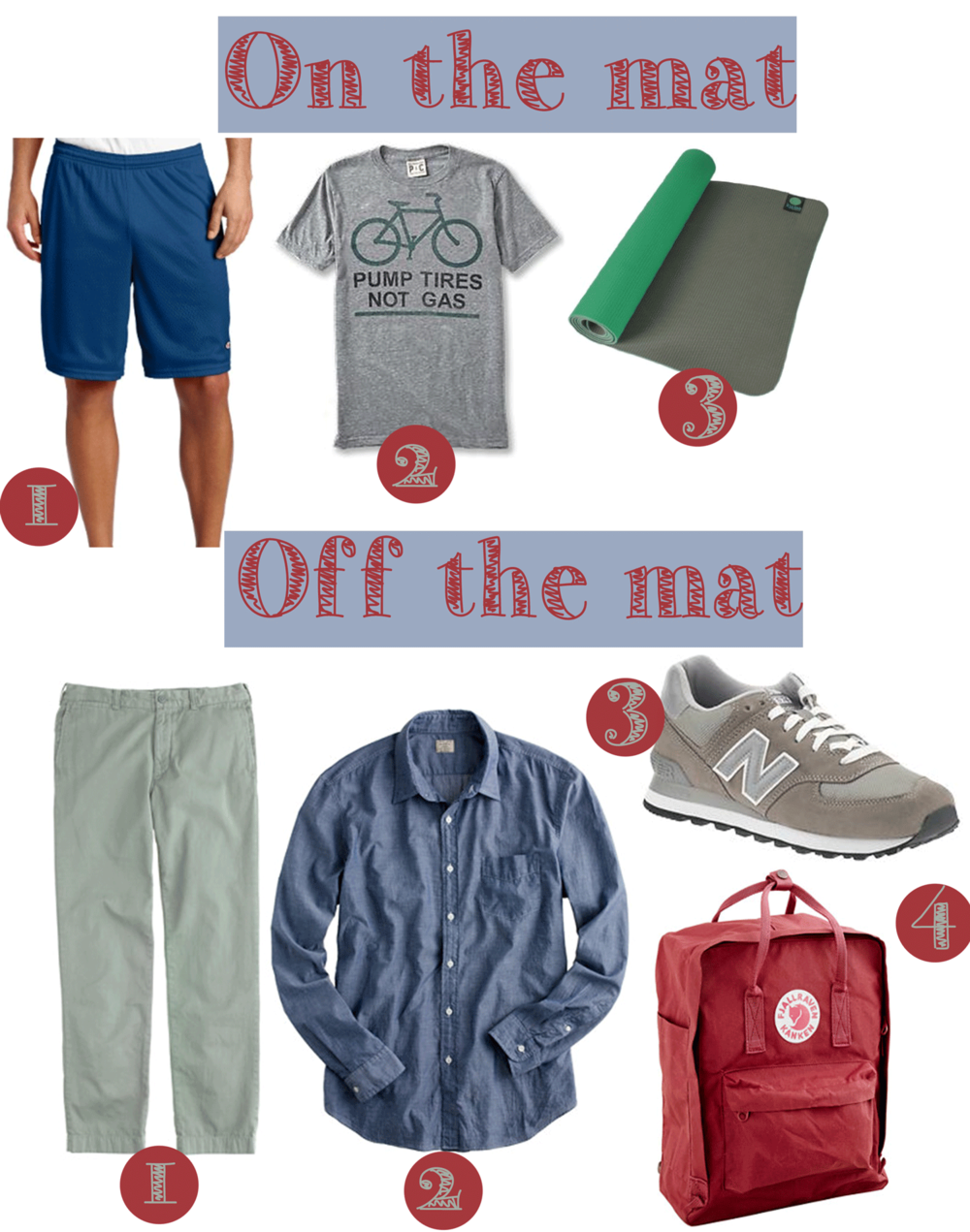 On the mat // Off the mat - clothing for men