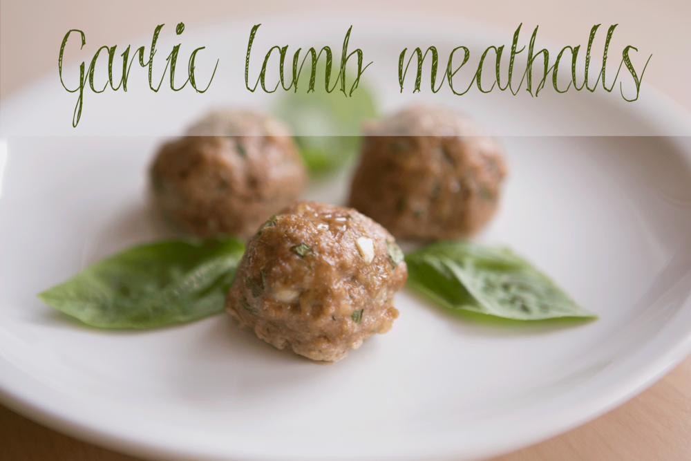 Pin it! Gluten-free lamb meatballs.