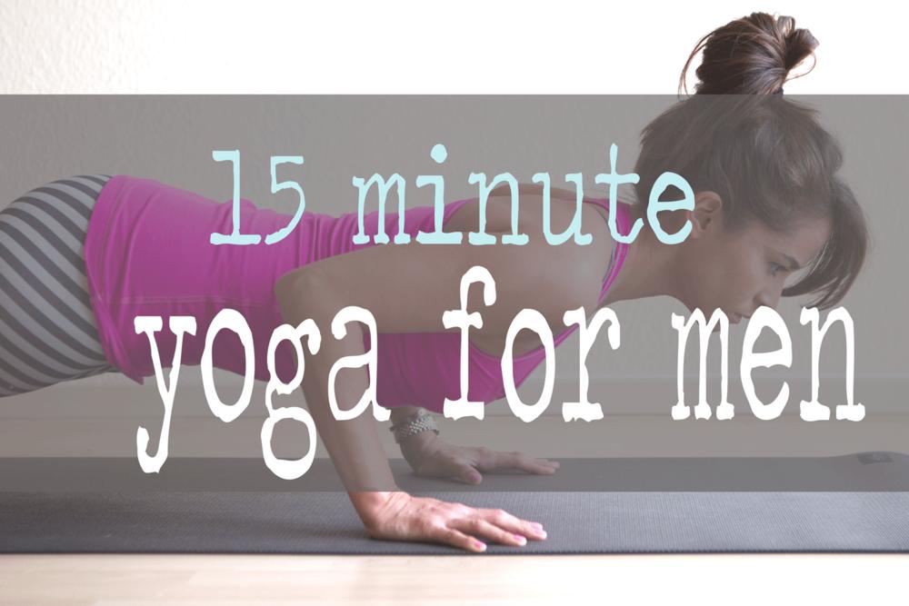 Pin i! 15 minute yoga video for men. Wearing: Teeki balanced traveler pants, lululemon top. Using Wellicious Divine Mat c/o
