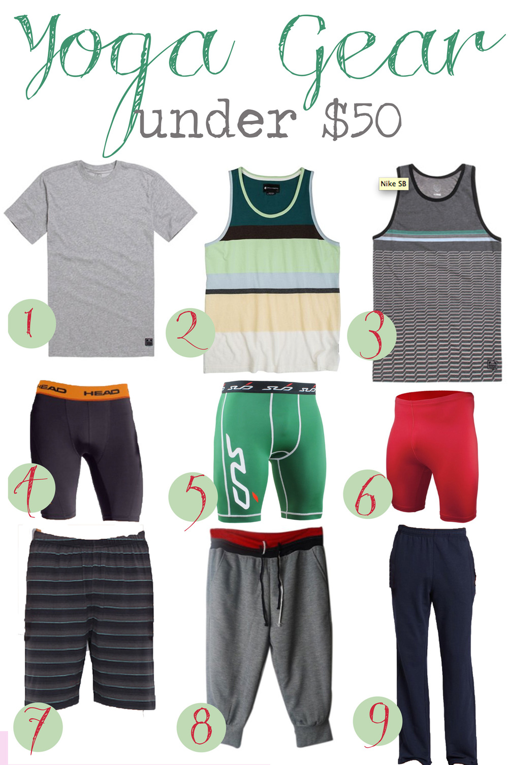 Pin it! Men's yoga clothes under $50