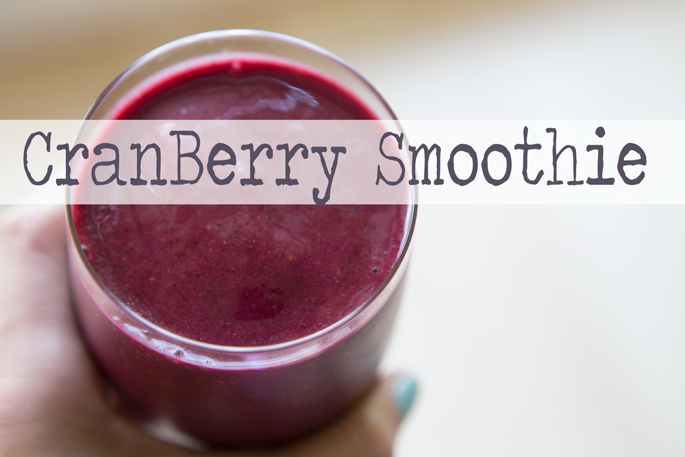 Pin it! Delish CranBerry smoothie recipe.