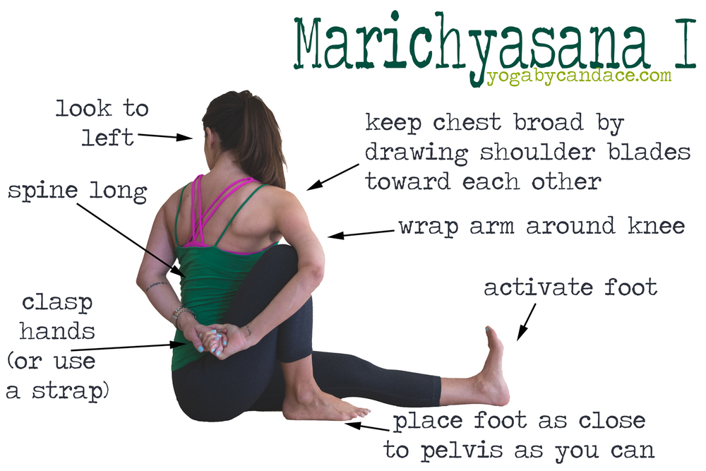 How to do Marichyasana I. Pin it!