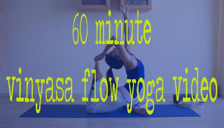 Pin it! A free one hour vinyasa yoga class.