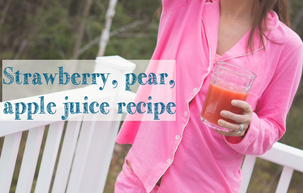 Pin it! Delish juice recipe.  Wearing:  Victoria's Secret pajama set .