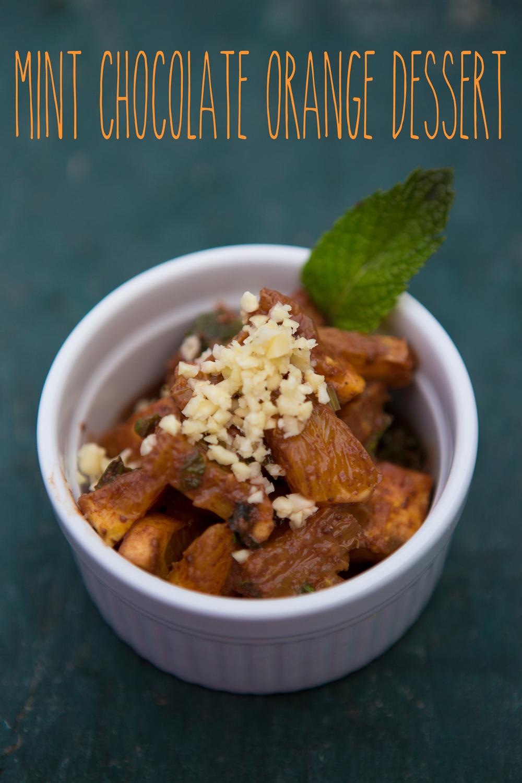 Pin it! Mint chocolate orange dessert recipe.