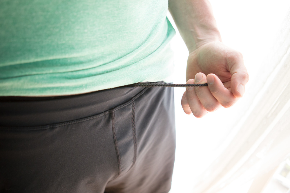 cinch the waist tighter, if needed