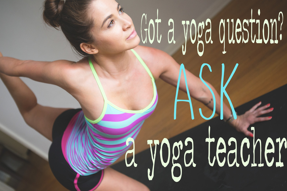 Pin it! Ask your yoga questions!  Wearing:  Lorna Jane tank  c/o. Using:  Gaiam mat