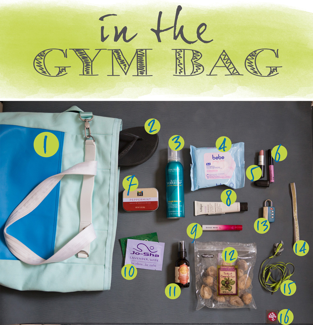 What's in my gym bag.