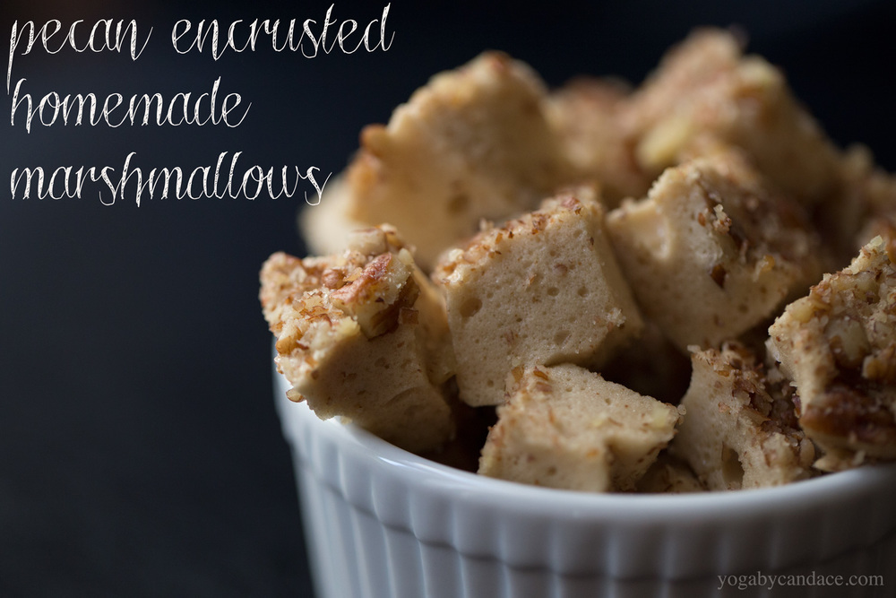 Pin it! Pecan encrusted marshmallows