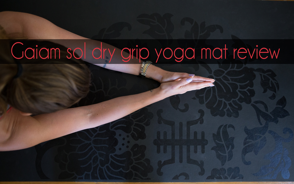Pin it! Gaiam sol dry grip yoga mat review