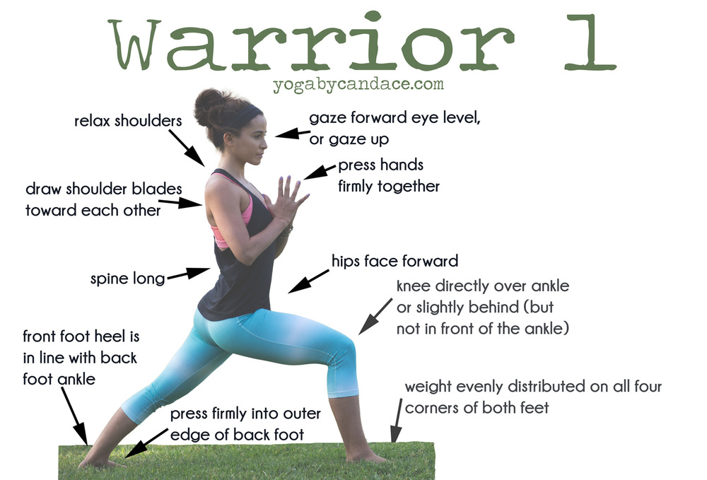 Pin it! How to do warrior 1.  Wearing:  Nike pants  and  shirt ,  Glyder bra . Using: The great outdoors for a mat :)