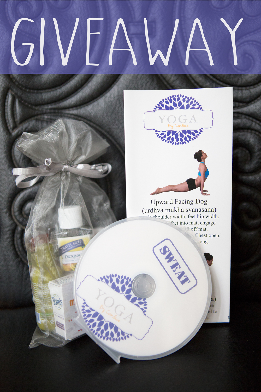 Pin it! A yoga dvd and gift bag giveaway