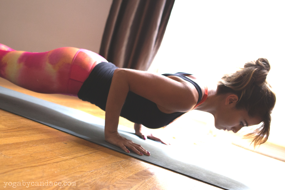 Pin it! Chaturanga tips. Wearing: glyder pants, splendid top.