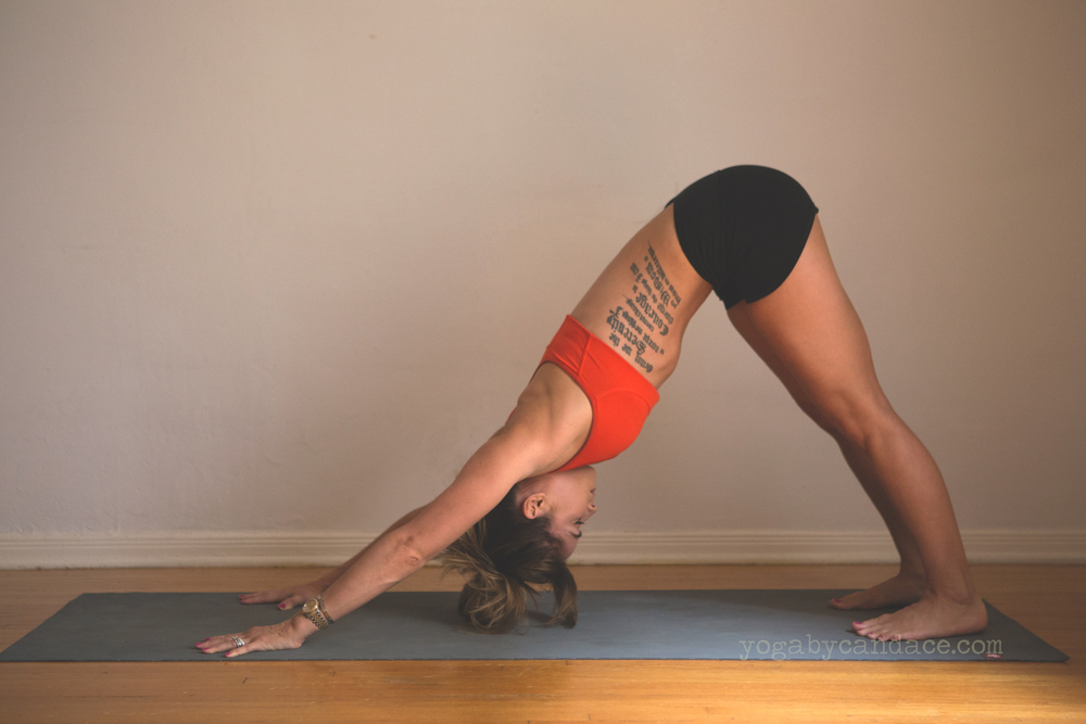 Wearing: lululemon shorts (similar), bra (similar) Using: Manduka mat.