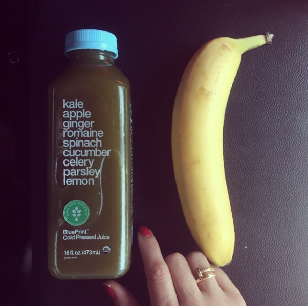 Blueprint juice and banana